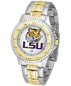 Louisiana State (LSU) Tigers Competitor Two Tone Watch by SunTime