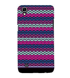 PrintVisa Cute Chevron Pattern 3D Hard Polycarbonate Designer Back Case Cover for LG X Power