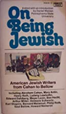 On being Jewish: American Jewish writers…
