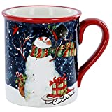 Flying Bird Snowman Mug
