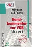 echange, troc Wolfgang Heiermann - Handkommentar zur VOB Teile A und B. Version 2.1. CD- Rom für Windows 95/95/ NT