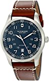 Victorinox Men's 241507 AirBoss Stainless Steel Watch with Brown-Leather Band