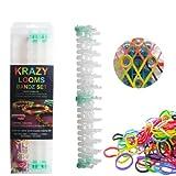 Krazy Loom Bandz Rubber Band Bracelet Making Kit Set - 600 Piece Gift Set (Assorted)