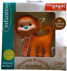 Go GaGa Squeeze & Teethe Monkey - Coco