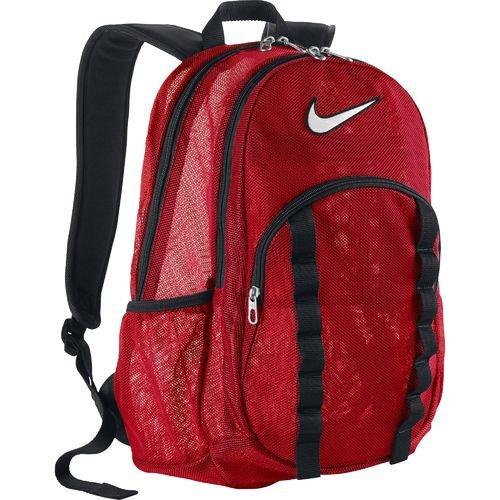 Nike Brasilia 7 Large Mesh Backpack (Red, One Size) (Nike Brasilia 6 Large compare prices)