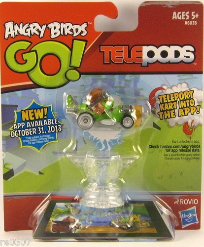 New 2013 Angry Birds Go! Telepods - Green Pig Single Figure! - 1