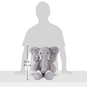 Vermont Teddy Bear Oh So Soft Elephant Stuffed Animals Plush Toy, Gray, 18 (Color: Elephant, Tamaño: 18)
