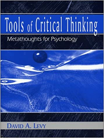 tools of critical thinking metathoughts for psychology