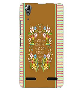 PrintDhaba Quote D-4246 Back Case Cover for LENOVO A6000 (Multi-Coloured)