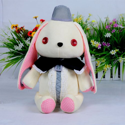(Procosplay)Vocaloid 3 Mayu Rabbit Microphone Cosplay Plush Doll&100% Hand Made&Best Gift