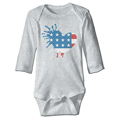 [Love Usa Flag Cute Boy And Girl Infants Romper Jumpsuit 6 M Ash] (Dances With Wolves Costumes Designer)