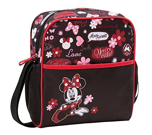Disney Minnie Floral Graffiti Mini Diaper Bag, Black/Pink, Small - 1