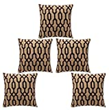 Desirica Luxurious Woven Vibrant Cushion Cover (Set Of 5)