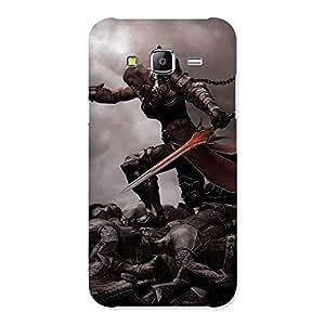 Warrior Sword Multicolor Back Case Cover for Samsung Galaxy J5