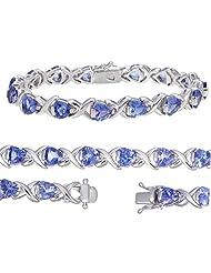 Sterling Silver Tanzanite Bracelet (9 CT)