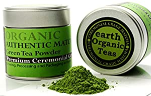 Matcha Green Tea Powder. Shade-Grown Superior Quality. Organic Japanese - Premium Ceremonial Grade. Best Antioxidant Green Tea for Good Health, Energy and Vitality. 1 oz (30 g) Tin.