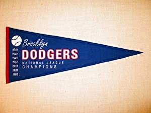 Brooklyn Dodgers MLB Baseball Cooperstown Collection Wool Blend Pennant by Winning Streak Sports