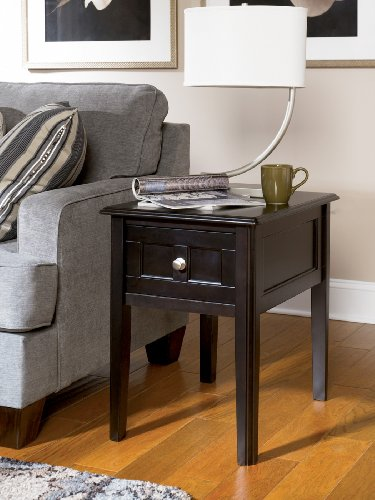 Cheap Henning Chairside End Table inAlmostBlack Painted Finish (T479-7)