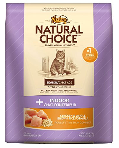 Natural Choice Indoor Senior Cat Chicken And Whole Brown Rice Formula Food, 14-Pound