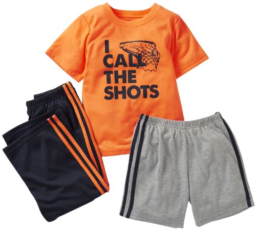Carter'S Little Boys' 3 Piece Screenprint Set (Kids) - I Call The Shots - 5 front-134603