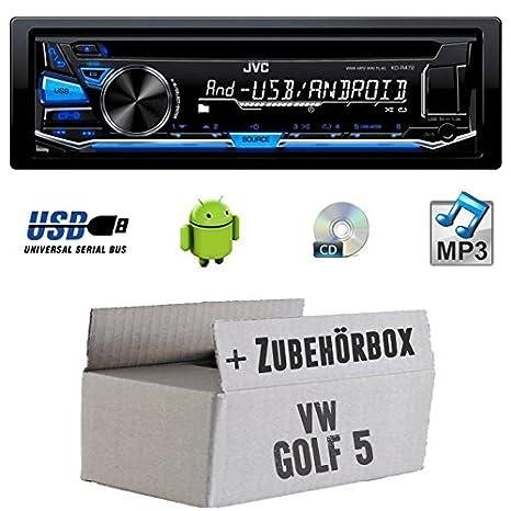 VW Golf 5V-JVC KD r472e-Kit de montage autoradio CD/MP3/USB -