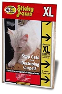 "(5 strips) X-Large Sticky Paws (9"" x 12"" Sheets) : Keep Cats From Scratching Furniture"
