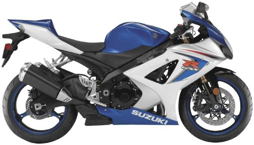 New Ray Toys Street Bike 1:12 Scale Motorcycle - GSX-R1000 Blue/White 2008 57003A