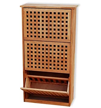 kmh sch ner schuhschrank aus ge ltem walnussholz. Black Bedroom Furniture Sets. Home Design Ideas