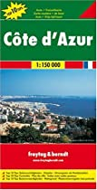 Cote D'Azur, France Map (English, French, Italian and German Edition)