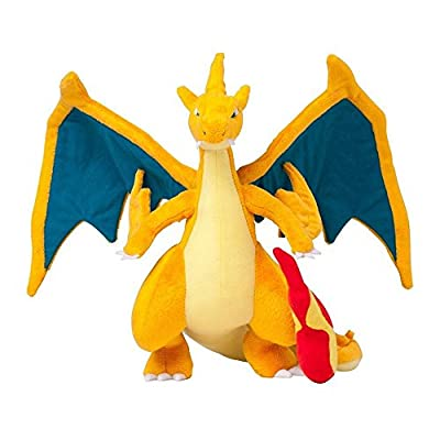 """Generic Mega Charizard Y Plush Toys Stuffed Doll With Badges Yellow 9"""" by Generic"""