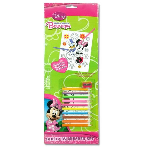 Disney Minnie Mouse Bow-tique Color by Number Set