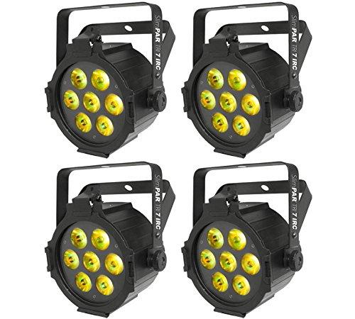 (4) Chauvet Slimpar Tri 7 Irc Dj High Powered Led Dmx Rgb Par Stage Wash Lights