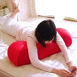 王様の膝下枕 標準サイズ (超極小ビーズ素材使用) レッド
