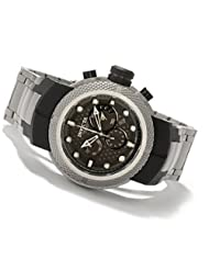 Men's 0671 Coalition Forces Black Perforated Dial Chronograph Titanium