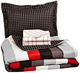 Pinzon 5-Piece Bed In A Bag - Twin, Red Simple Stripe