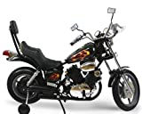 Kids Electric Power Ride on Motorcycle Harley Style Black - 6...