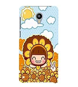 EPICCASE Sunflower girl Mobile Back Case Cover For Meizu m2 Note (Designer Case)