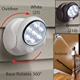 Rotating Superbright 7 LED Motion Activated Cordless Light