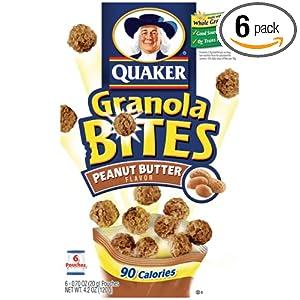 quaker granola bites chocolate