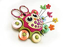 Bobbin Holder / OWL Sewing Caddy, for Essentials Notions, Sticks to Any Sewing, Quilting or Embroidery Machines or Smooth Surfaces