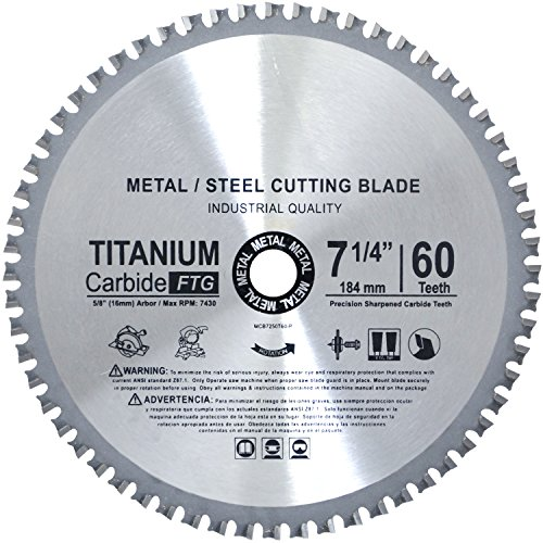 Concord Blades Mcb7250T60T-P Tct Ferrous Metal Cutting Blade 7-1/4-Inch 60 Teeth For Cutting Steel, Metal Rods, Dm5/8-Inch Arbor