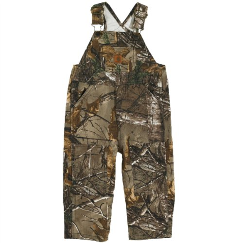 Carhartt Baby-Boys Infant Washed Work Camo Bib Overall, Real Tree Xtra Brown, 6 Months front-1029912