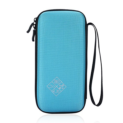 For Graphing Calculator Texas Instruments TI-84 / Plus CE Portable Hard Carrying Case Travel Bag Protective Pouch Box -Extra Room for Pen and Accessories (Blue) (Ti Pen compare prices)
