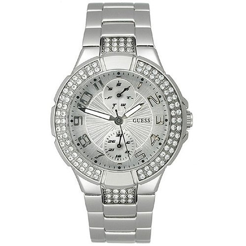 GUESS U12003L1 Status In-the-Round Watch - Silver