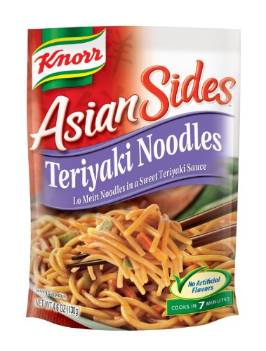 Knorr/Lipton Noodles & Sauce, Asian Teriyaki, 4.6 Ounce Packages (Pack Of 12)
