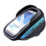 Allnice® U Type Design 5.5'' Waterproof Toucscreen Dual Zipper 2.5L Capacity Mountain Bike Road Bicycle Cycling Front Frame Bag Tube Pannier Saddle Bag Fit for iPhone 6 Plus / iPhone 6 / Galaxy Note2 / Galaxy S5 and etc