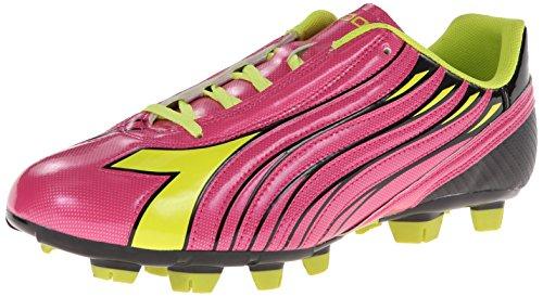 Diadora Women's Solano Soccer Cleat Shoes, Magenta/Yellow, 10 M US