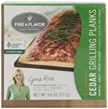 Fire & Flavor Single Serving 6x6 Cedar Plank (4-Count), 9.6-Oz Packages (Pack of 4)