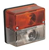 Sealey TB20 Front Square Amber/White Lamp 12V with Bulbs