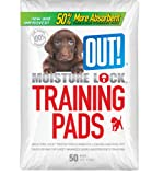 OUT! Dog Training Pads with Moisture Lock, 50-Count